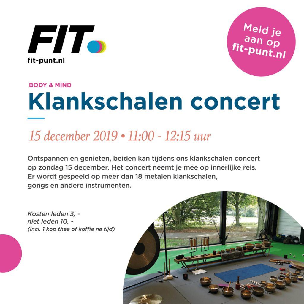 Klankschalen concert Fitpunt Hengelo