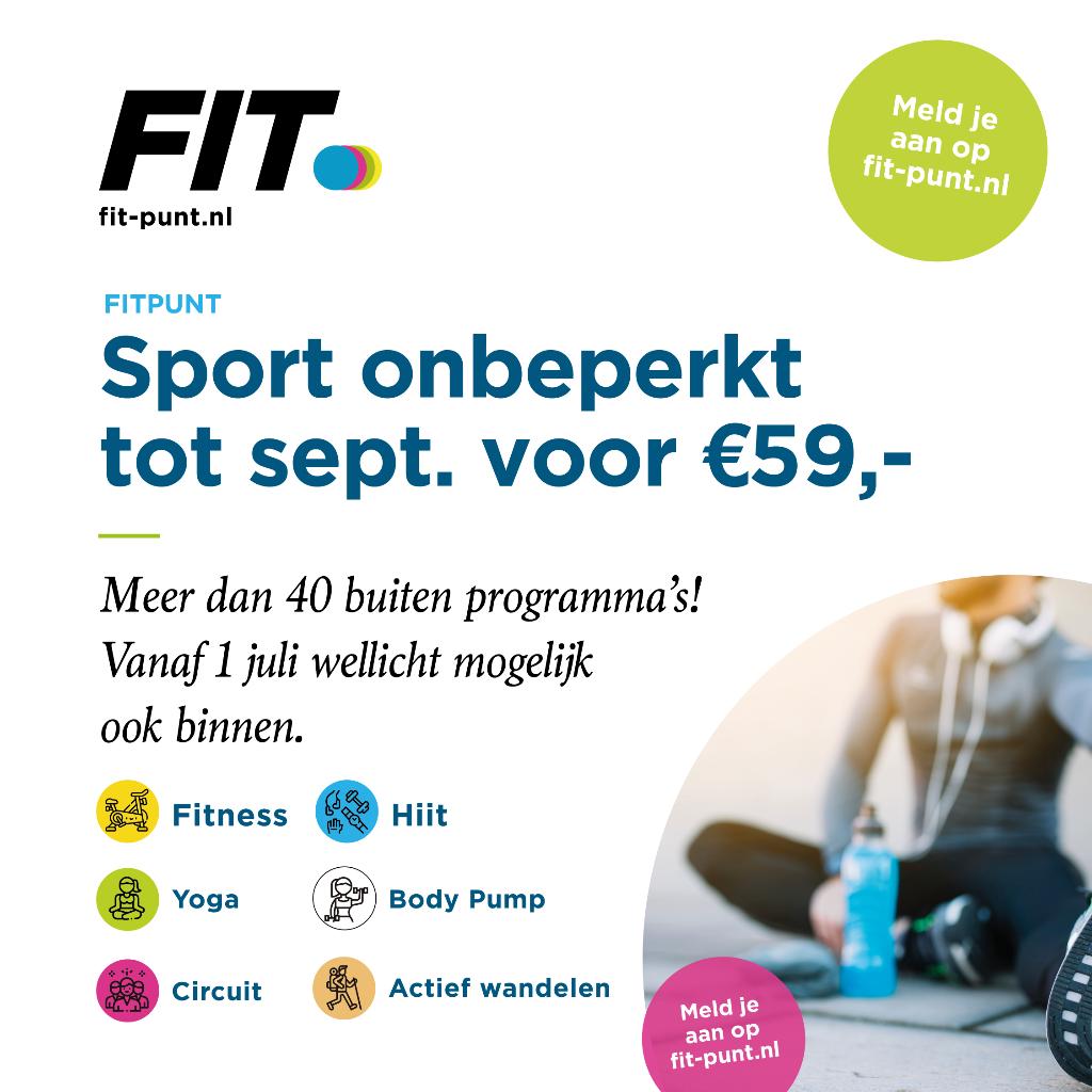Sport onbeperkt tot september voor € 59, -